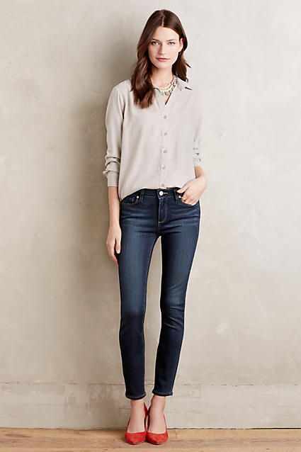 Paige Verdugo Ankle Skinny Petite Jeans - anthropologie.com