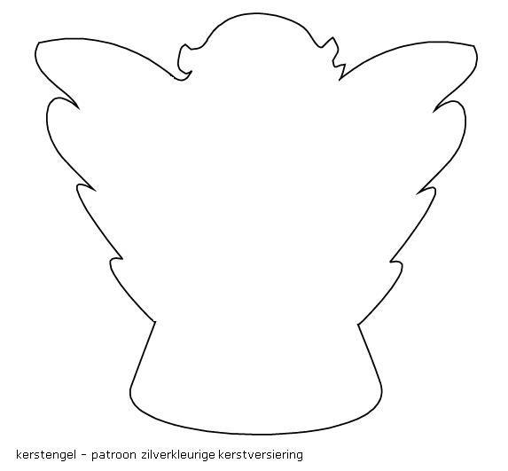 kerst engel simpele tekening