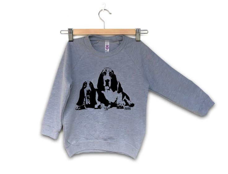 Basset Hound Kids Sweatshirt, Girl Toddler Sweater, Toddler Boy Clothes, Dog Lover Gifts, Cool Kids Fashion, Gift For Niece, Nephew Gift by MONOFACESoCHILDREN on Etsy