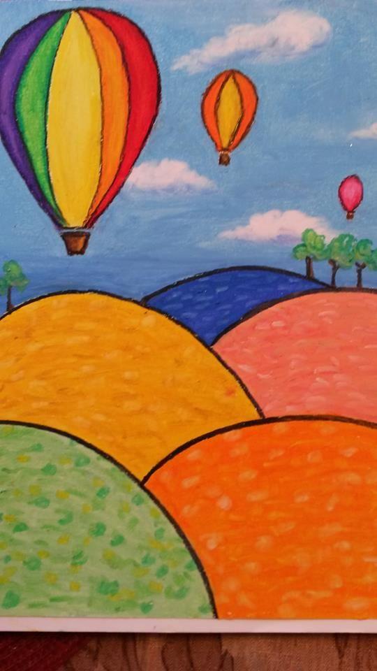 Oil Pastel Paintings Easy