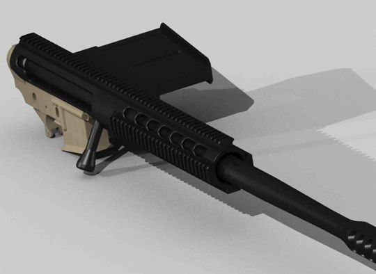 Tactilite T-2 : Magazine fed .50 BMG AR-15 Upper!!! - The Firearm Blog
