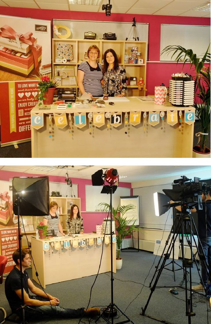 Check out what it's lie behind the scenes at a Stampissimo video shoot!  #crafting #stampissimo