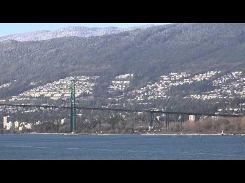 Lions Gate Bridge In 4K Vancouver B.C. Canada November 29 2014