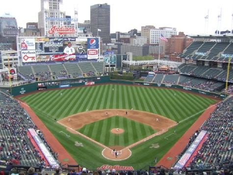 Jacobs Errr Progressive Field Home Of My Beloved Yet Snakebitten Tribe Cleveland Indians Baseball Mlb Stadiums Baseball Park