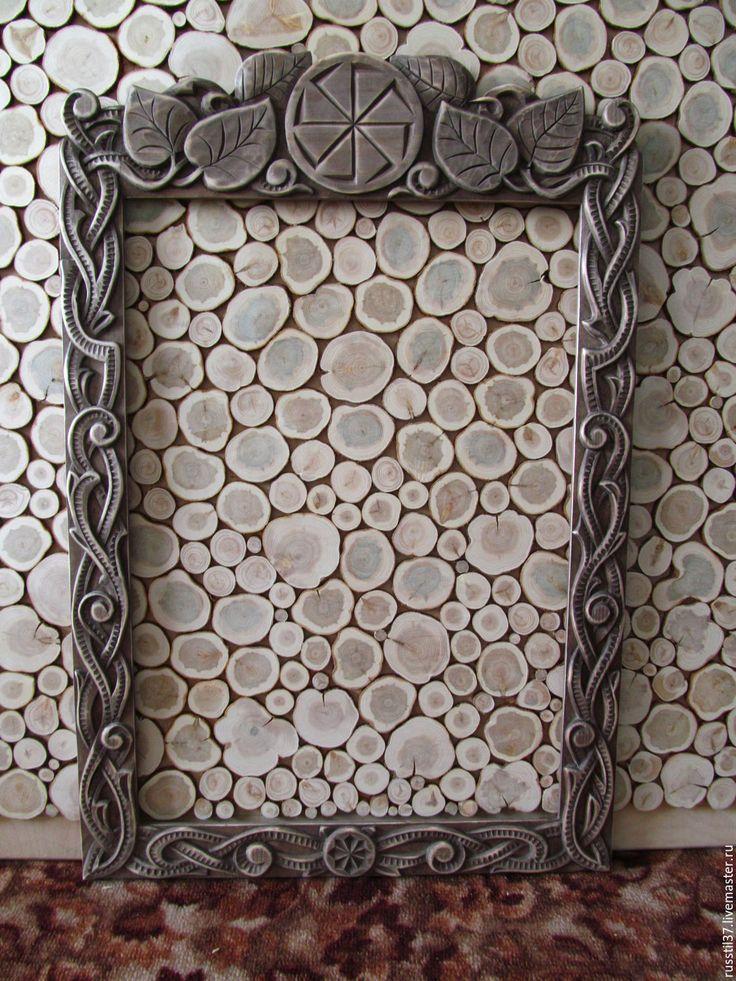 Купить рама в Славянском стиле - комбинированный, русский стиль, экостиль, рама для зеркала, рама для фото
