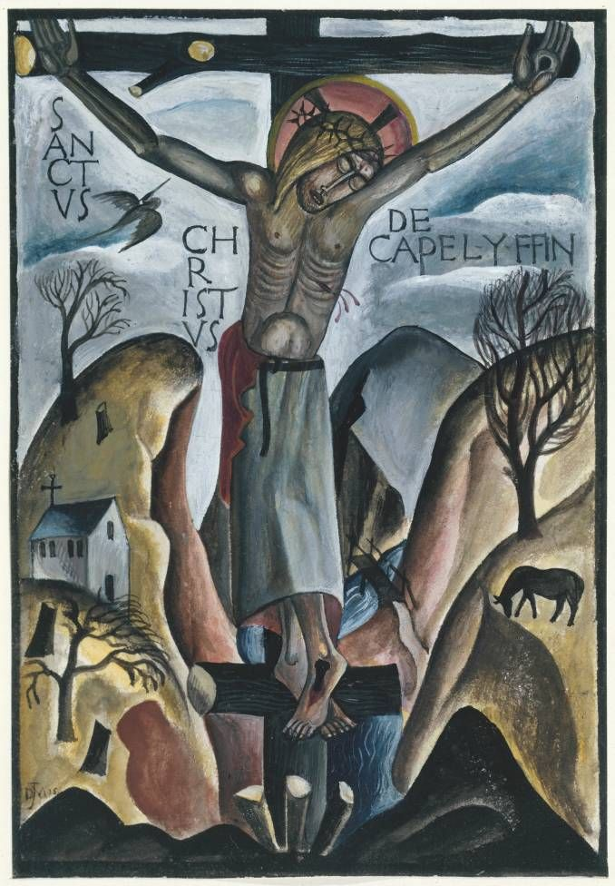 David Jones 'Sanctus Christus de Capel-y-ffin', 1925 © The estate of David Jones