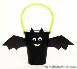Paper Cup Bat Basket craft                                                                                                                                                                                 More