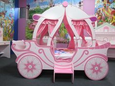 Details about SECOND GIRLS BEDS THE PRINCESS CASTLE CARRIAGE BED FOR KIDS