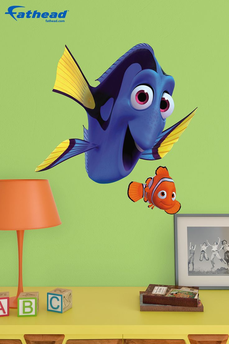 528 best images about wall decals disney kids bedroom for Finding dory wall decals