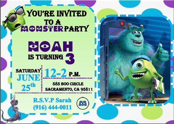 Invitación de cumpleaños de Monster Inc. por Bmichellecreation