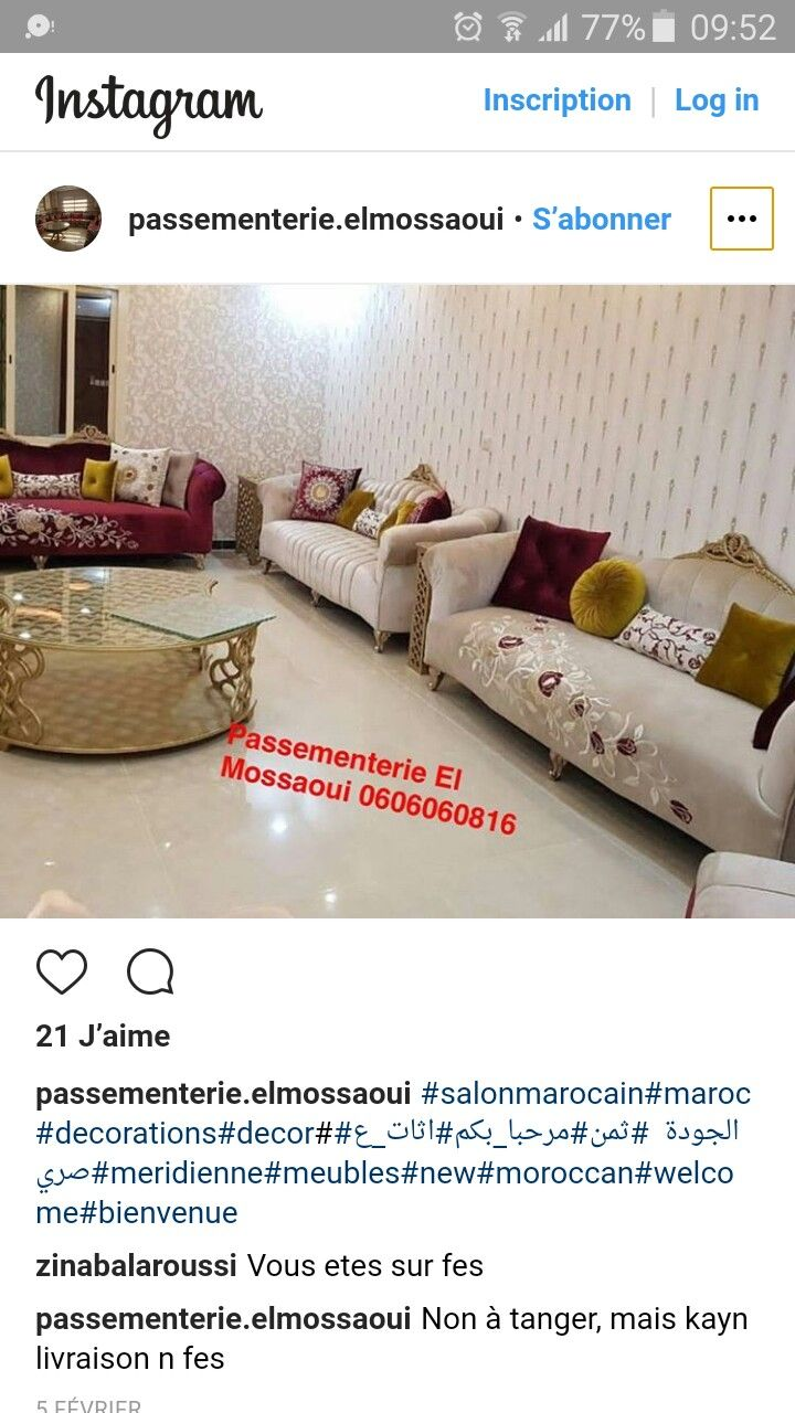 Épinglé par Karima sur salon kari   Salon marocain moderne, Salon ...