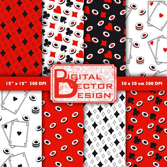 Casino Digital Papers Blackjack set, Card game Digital Paper, Background Pack…