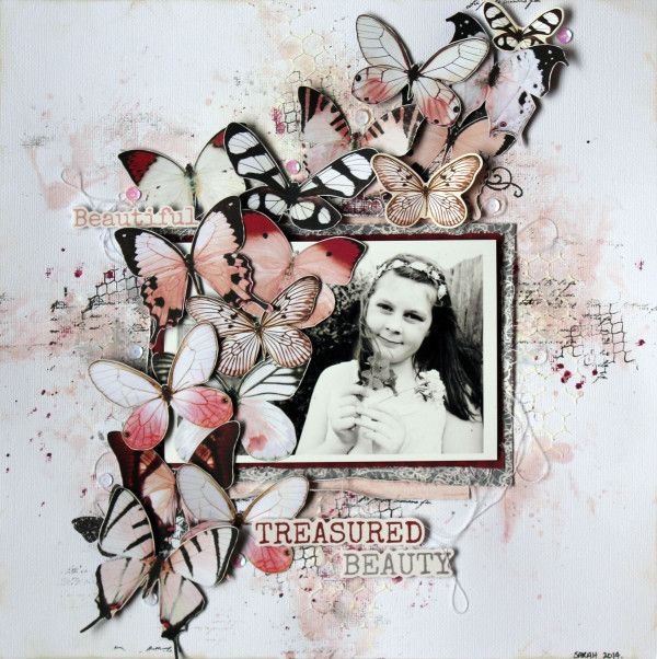 "Kaisercraft ""Ma Cherie"" for Anna's Craft Cupboard. Kylie Cornish"