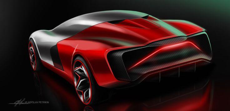 SD#49_supercar_renault_red #car, #design, #automotivedesign, #cardesign, #transportdesign, #vehicledesign, #concept, #conceptcar, #sportcar, #sketch, #carsketch, #sketching,#quick #cardrawing, #photoshop, #future, #wheels, #electric, #supecar, #engine, #racer, #renault, #alpine, #red