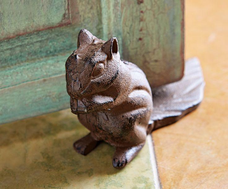 124 best door stops images on pinterest vintage doors antique doors and old doors - Cast iron squirrel door stop ...