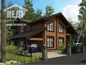 Дом из бруса «Западная Долина»: строительство по оптимальной цене от компании «КЕДР»