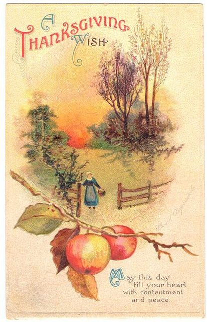 Vintage Thanksgiving Postcard - Clapsaddle, via Flickr.