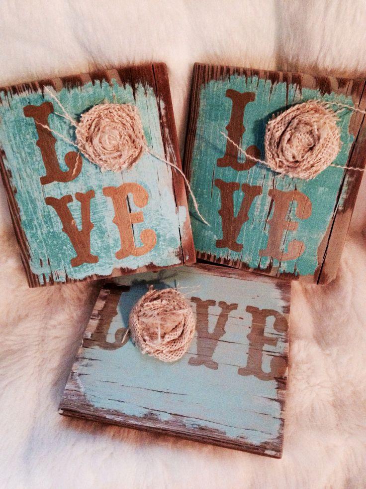 Pallet wood, chalk paint, metallic sharpie & burlap, HHH & Co
