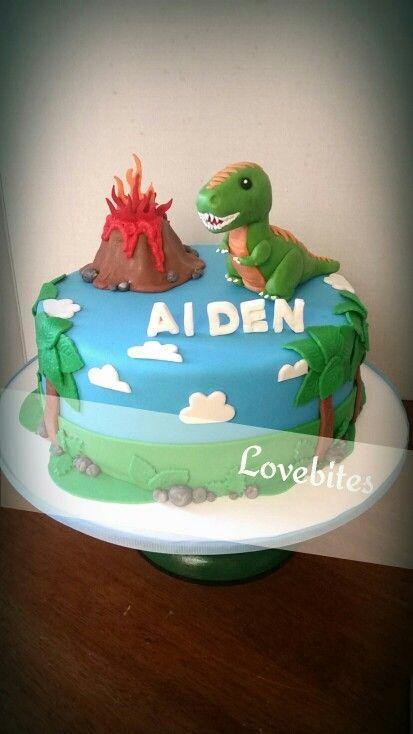 Baby t-rex dinosaur cake                                                                                                                                                                                 More