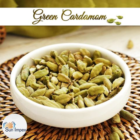 CARDAMOM : Is it the ruler of your food industry? Answer is yes! As an aromatic spice, the green cardamom is used as a common ingredient in cooking and baking. Sun Impex is one of the renowned exporters of green cardamom that are specially handpicked to deliver excellent quality product. Buy : http://bit.ly/SI_Green_Cardamom