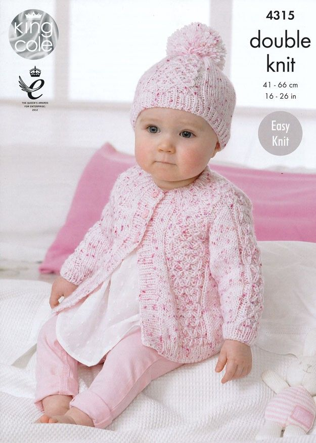 Coats and Hat in King Cole Smarty DK (4315)   King Cole Knitting Patterns   Knitting Patterns   Deramores