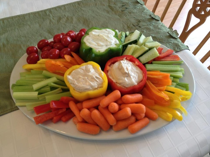 Veggie tray, cute way to serve dip. | Let's Party ...