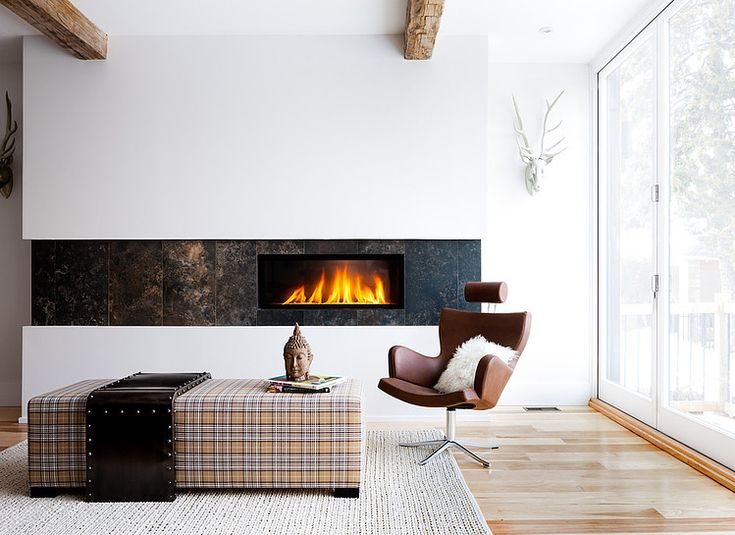 North York Brownstone by UED Studio  #tailored living room #plaid #modern
