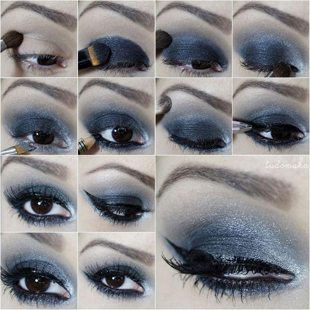 Passo a passo tutorial de maquiagem chumbo e preto para a noite do blog tudo make