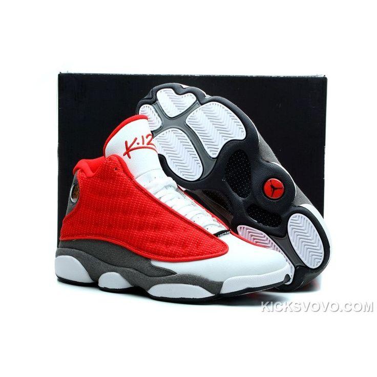 Air Jordan 13 Rockets Red White at kicksvovo.com