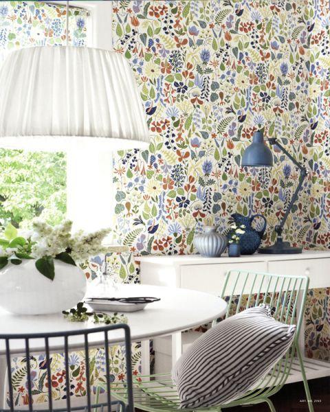 Scandinavian Designers Stig Lindberg (HERBARIUM 2743). Roomset shown in same or different colourway.