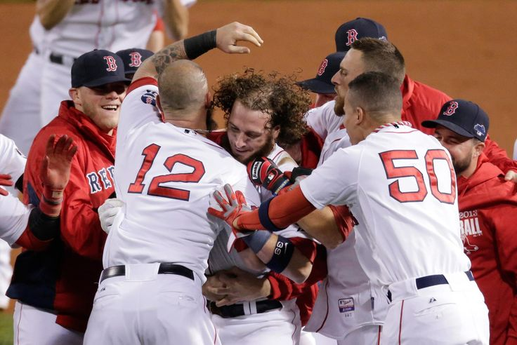 Big Papi ties the game in the 8th with a grand slam and then Salty smacks a walk-off single as the Red Sox defeat the Tigers, 6-5, in Game 2 of the ALCS to even the series at 1 game each. RECAP: http://atmlb.com/1fwdv3Q