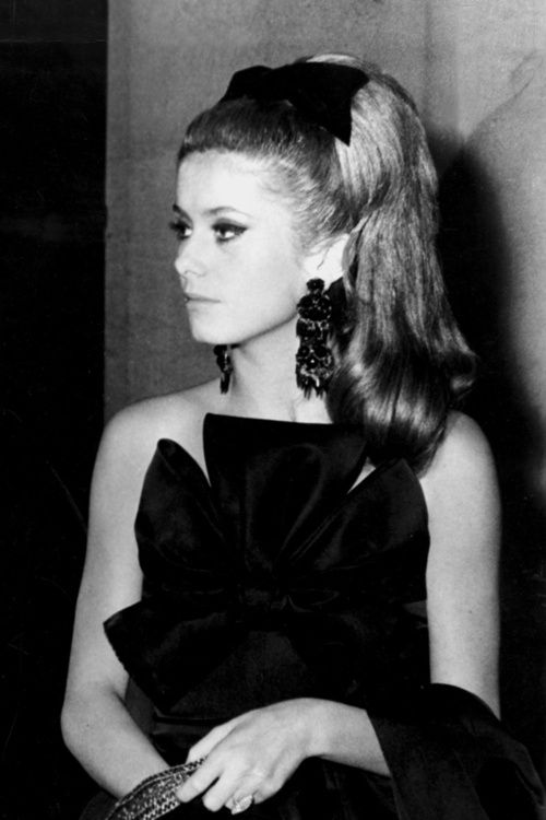 "Catherine Deneuve.  Still my favorite. ""I try to be careful but I'm not American - I'm not always worrying about calories & working out."""