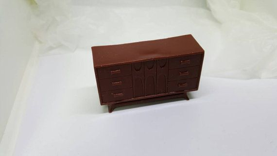 Marx Soft Plastic French Provencal Bedroom Chest master bedroom Toy Dollhouse hope chest #louismarx #collectors