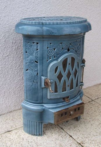 ANTIQUE FRENCH ART DECO WOOD & COAL BURNING STOVE BY DEVILLE - CIRCA 1930 | eBay