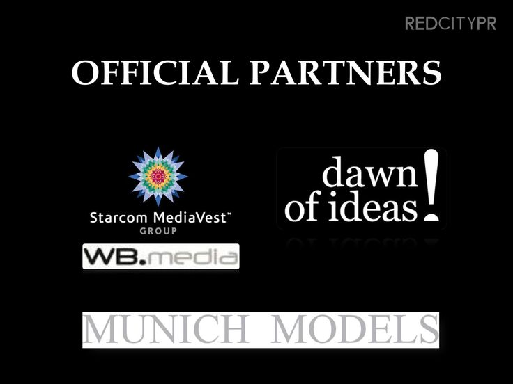 Red City PR partners: Nunich Models, WB Media, Dawn of Ideas