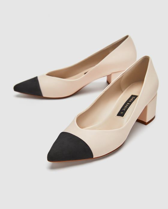 Image 4 of POINTED MID-HEEL COURT SHOES from Zara