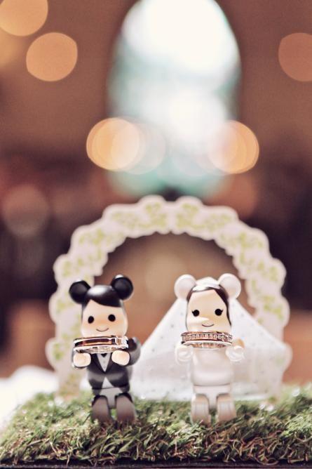 ベアブリックな二人♡モダンで個性的な結婚式のリングピローまとめ一覧♡