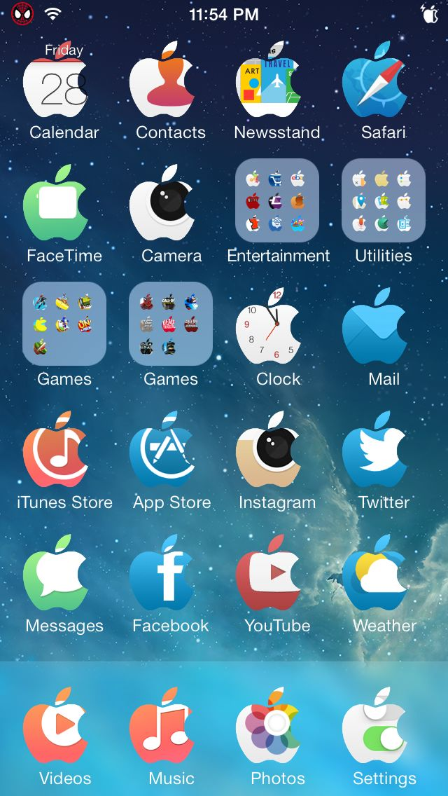 Apple Icon Mask iti transforma toate iconitele din Springboard in logo-uri Apple