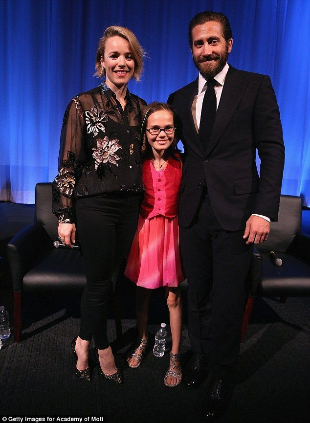 Picture perfect: Onscreen family Rachel McAdams, Oona Laurence and Jake Gyllenhaal the Aca...