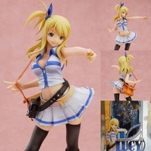 NEW  Anime Fairy Tail Lucy Heartfilia PVC sexy figure toy Figurine free shipping