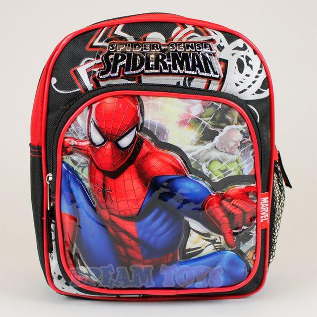 Jelfis.com - 10' Mini Marvel Spiderman Backpack - Villans Spider Man Boys School Book Bag, $13.99 (http://www.jelfis.com/10-mini-marvel-spiderman-backpack-villans-spider-man-boys-school-book-bag/)