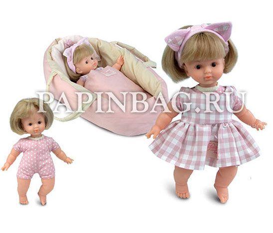 """Petitcollin Кукла игровая виниловая """"Mimi""""с колыбелькой-переноской, одеяльцем и подушечкой Восхитительная кукла из коллекции Organic baby Ecolo. Колыбелька-переноска, одеяльце, подушечка, одежда куклы изготовлены из органического хлопка.  Идеальный варианты для игры в дочки-матери, прогулки, поездки. Качество французских кукол Petitcollin всегда на высоте! Прекрасный вариант подарка девочке на Новый Год, День рождения и просто по случаю. http://papinbag.ru/index.php?m=5371"""