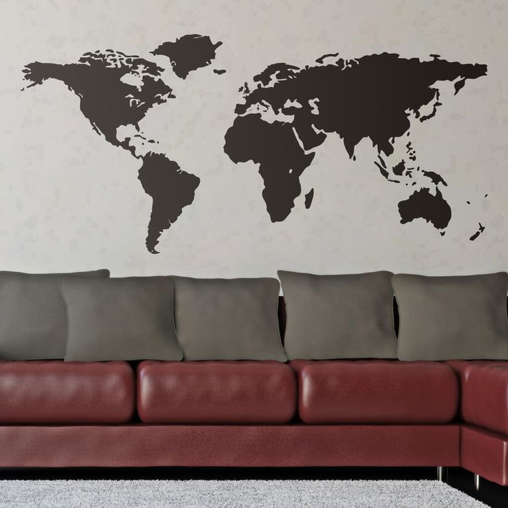 Stickers muraux: Carte du monde 0