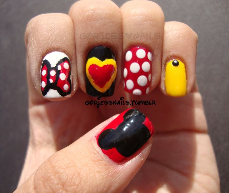 Minnie Mouse #nail #nails #nailart