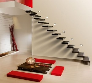 I love floating stairs!