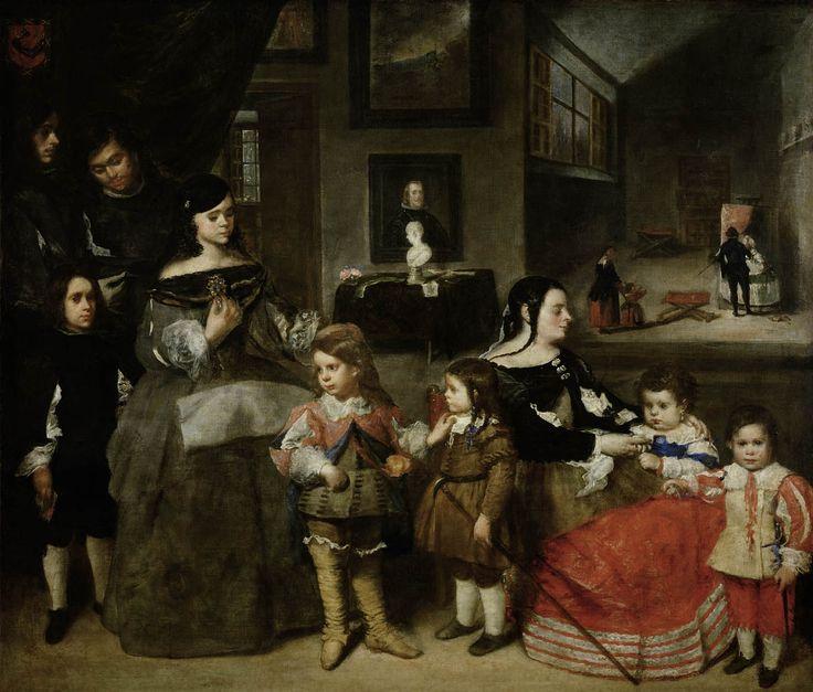 La familia del pintor, Juan Bautista Martínez del Mazo, 1664 - 1665  Viena.