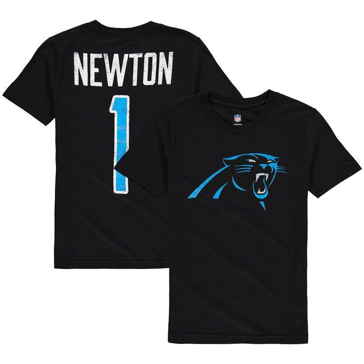 Cam Newton Carolina Panthers Youth Grinder Distressed Logo Name & Number T-Shirt - Black - $19.99