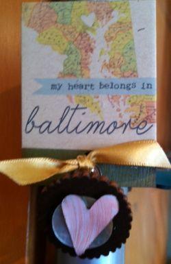 My Heart Belongs in Baltimore Clip Magnet Photo Holder