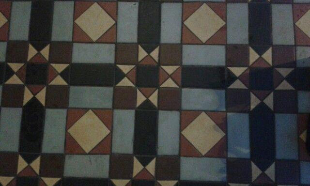 Tiles outside Leamington Spa Pump Rooms