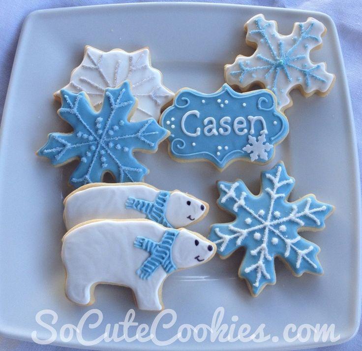 Snowflake U0026 Polar Bear Cookies. Snowflake Baby ShowerSnowflake ...